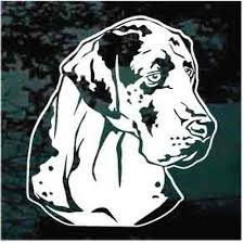 Great Dane Car Decals Stickers Decal Junky