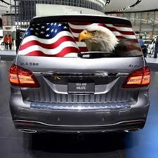 Eagle Flag Stars Rear Window Graphic Decal Tint Sticker Truck Suv Ute Wish