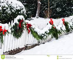 Christmas Wreath In Snow Stock Image Image Of Decoration 36128687