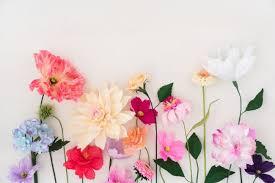 pastel pink paper flowers wallpaper