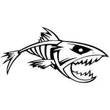 Cartoon Fish Bones Thorn Car Stickers Decals Motorcycle Accessories Car Stickers Decals Decals Motorcyclecar Accessories Aliexpress