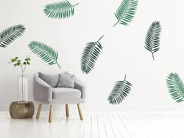 tropical wall decals palm leaf decor
