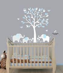 Elephant Tree Nursery Sticker Decal Boys Room Wall Decor Elephant Wall Art Baby Room Paintings Elephant Nursery Wall Elephant Nursery Wall Decor