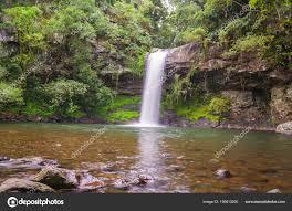 great angle beautiful waterfall