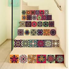 Amazon Com Flfk 3d Self Adhesive Traditional Talavera Tile Stickers Peel And Stick Kitchen Spanish Tile Decals Removable Stair Stickers For Home Decor 39 3 W X 7 H X 6 Pcs Home Kitchen