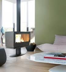 freestanding fireplace wood burner
