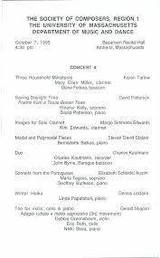 MUSIC FROM THE SOCIETY OF COMPOSERS REGION 1 (NEW ENGLAND)