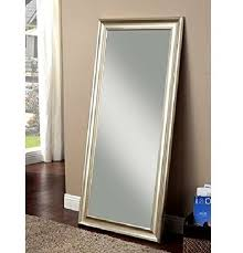 antiqued silver full length wall mirror