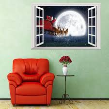 Christmas 3d Fake Window Wall Stickers Self Adhesive Removable Faux Window Wall Decal Christmas Holiday Decor Sticker New Year Buy Christmas 3d Fake Window Wall Stickers Self Adhesive Removable Faux Window Wall Decal