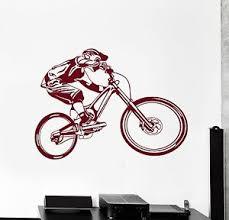 Wall Vinyl Decal Bicycle Sport Bike Amazing Bmx Cool Living Room Decor Z3940 Ebay