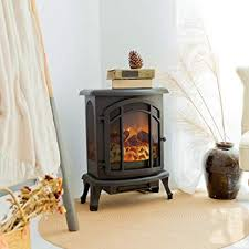 electric wood stove fireplace heater
