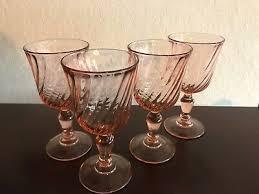 depression wine glass cordial glasses