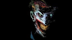 giấy dán tường joker, truyện tranh dc, nghệ thuật hd: màn hình rộng: độ nét  cao: toàn màn hình
