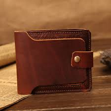 studded genuine leather wallet with