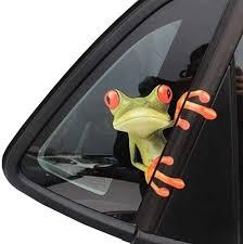 Amazon Com Okdeals 3d Cute Peep Frog Funny Car Stickers Truck Window Vinyl Decal Graphics Auto 2pcs Automotive