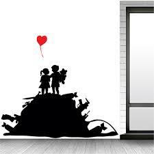 Banksy Wall Decal Sticker Vinyl Graffiti Decor Mural Transfer Art Kids Gun Hills Ebay