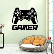 Amazon Com Game Controller Wall Stickers For Bedroom Boys Room Video Game Wall Decal For Kids Room Playroom Background Sticker Decor 16 9 X14 6 Arts Crafts Sewing