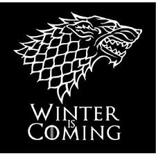 Amazon Com White Stark Direwolf Winter Is Coming Game Of Thrones Die Cut Vinyl Decal Sticker Automotive