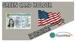 green card holder stay outside