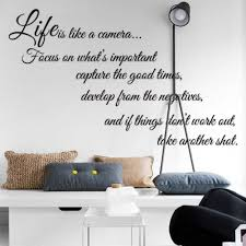 Life Is Like A Camera Quote Wall Stickers Decal Home Decor For Living Bed Room Vinyl Wall Decals Vinyl Wall Decals Kids From Flylife 4 83 Dhgate Com