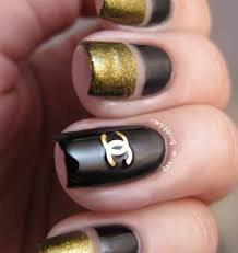Black And Gold Chanel Decal Nails Hot Or Not Obsessed