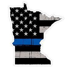 Minnesota State V24 Thin Blue Line Vinyl Decal Sticker Car Truck Laptop Netbook Window Walmart Com Walmart Com