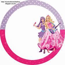 Barbie Moda Y Magia Y Barbie Rock Star Etiquetas Gratis Para