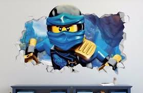 Lego Ninjago Jay Custom Wall Decals 3d Wall Stickers Art Extra Large Ls73 24 34 Picclick