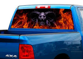 Five Finger Death Punch Skull Rear Window Perforated Graphic Decal Truck Suv Lawrensongroup Co Nz