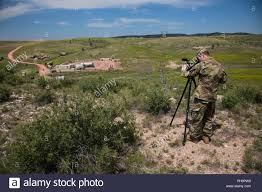 Spc. Dustin Jordan with the 129th Mobile Public Affairs Detatchment with  the South Dakota Army National Guard, documents Golden Coyote training  exercise 2018, at the North Training Area of Camp Guernsey, WY,