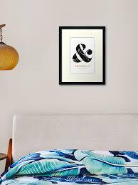 Ampersand Wall Art Black Marble Framed Art Print By Nth4ka Redbubble