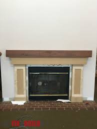 fireplace surround and mantel ana white