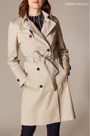 womens karen millen neutral trench coat