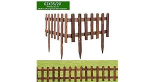 Volwco Wooden Picket Fencing Instant Fence Panels Picket Border Edge Fence Expanding Freestanding Fence For Lawn
