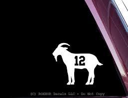 Amazon Com Roxxor Decals Tom Brady 12 Goat Precision Cut Vinyl Decal Sticker Not Printed Automotive