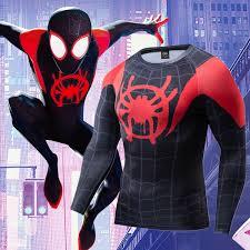 spiderman tshirt men fitness tee shirt