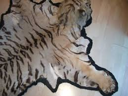 taxidermy tiger skin rug pre 1947