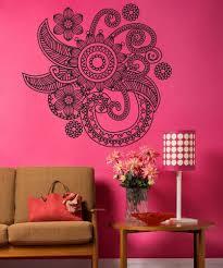 Vinyl Wall Decal Sticker Floral Henna Os Dc706 Stickerbrand