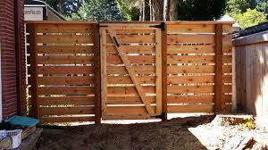 Our Work Cedar River Construction Make Your Fence Of Deck Happen Horizontal Fence Wood Fence Fence Doors