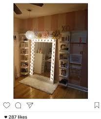 light up floor mirror pbteen