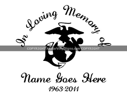 Military Memorial Vinyl Window Decals Air Force Army Marine Corps Navy In Loving Memory Of Car Truck Stickers