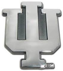 Amazon Com Indiana University Hoosiers Iu Chrome Plated Premium Metal Car Truck Motorcycle Ncaa College Emblem Sports Outdoors