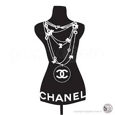 Designer Inspired Necklace Mannequin Dress Form Wall Decals Graphicsmesh
