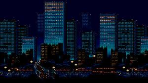 pixel city wallpapers top free pixel