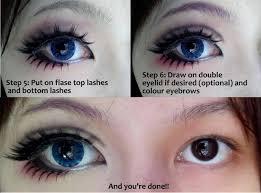fake lashes makeup tutorial for big