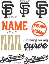 San Francisco Giants Cranial Band Decoration From High Quality Vinyl