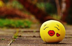 cute love heart green kiss yellow