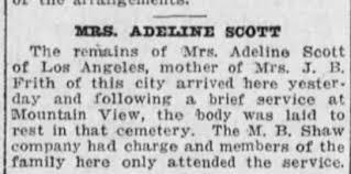 Adeline Scott - Newspapers.com