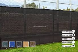 Amazon Com Heavy Duty Fence Privacy Screen 8ft X 50ft Chain Link Fence Cover Shade Cloth With Grommets 3 Black Garden Outdoor