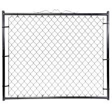 Black Chain Link Fence Gate At Menards